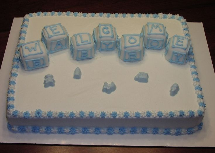 Oh Boy - half sheet cake — Baby Shower