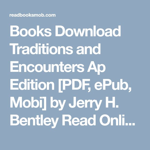 48 best my books images on pinterest books download traditions and encounters ap edition pdf epub mobi by jerry fandeluxe Choice Image