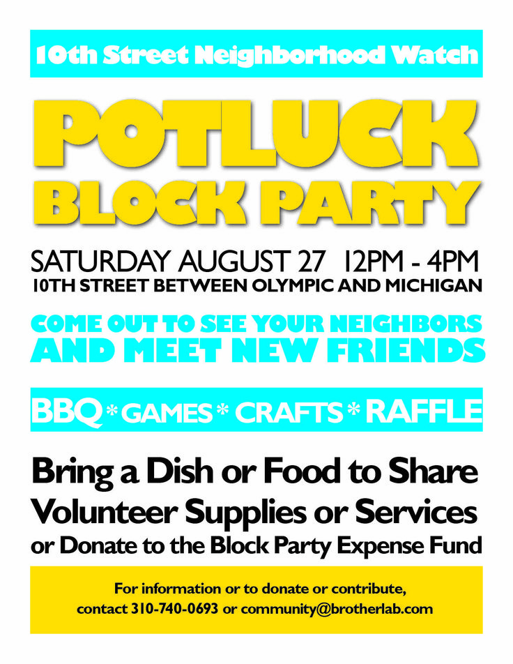 block party invite wording