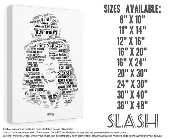 SLASH IMAGE on Box Canvas ART Memorabilia