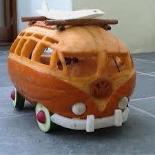 Volkswagon carved pumpkins