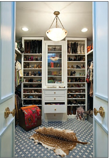 Closet with french doors! LOVE.