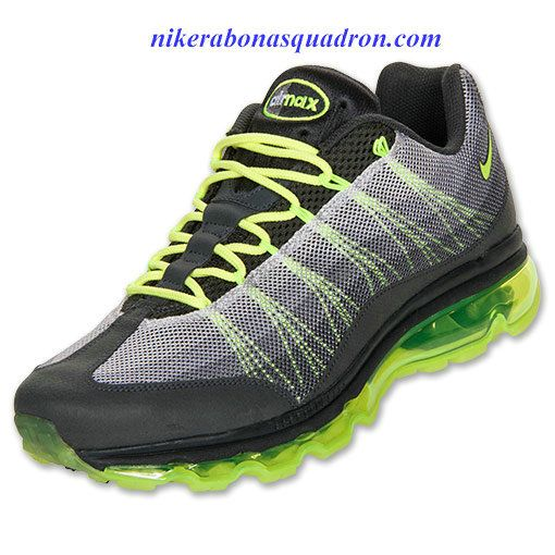 Nike Air Max 95 Dynamic Flywire Mens Anthracite Volt Dark Grey 554715 070