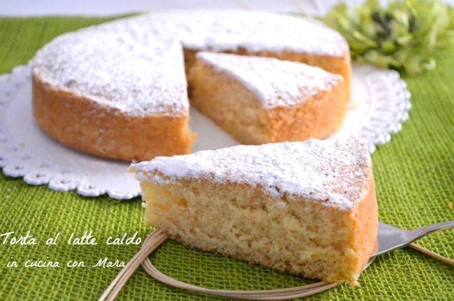 la torta al latte caldo, ovvero la hot milk sponge cake, una torta semplicissima, soffice, umida e dal sapore delicato, ideale anche da farcire.