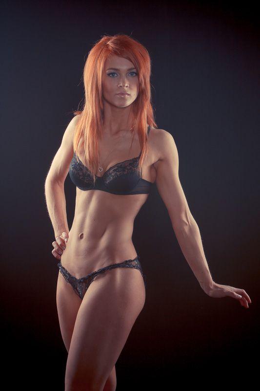 Perfect female body redhead