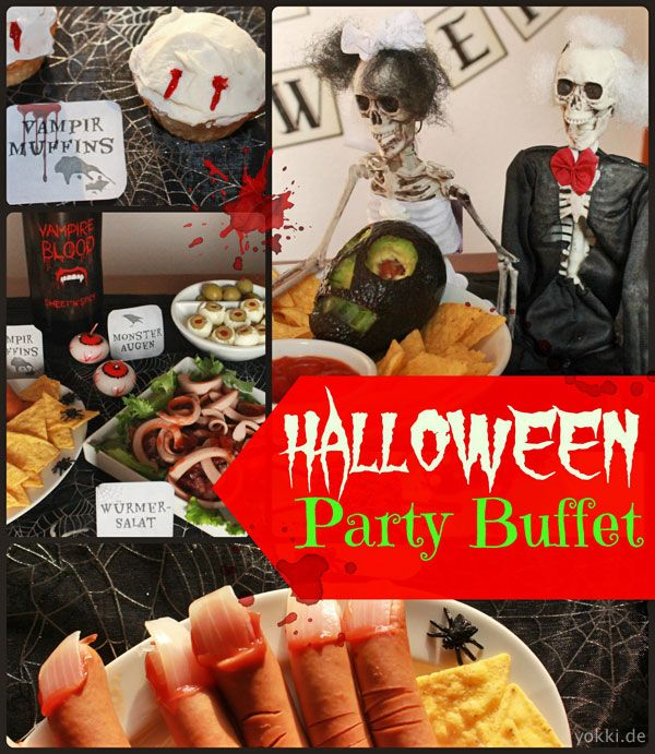 gruseliges fingerfood f r die halloween party viele rezepte ideen f r gruselparty snacks hat. Black Bedroom Furniture Sets. Home Design Ideas