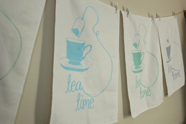 Tea Time tea towels by Amanda Alessi. http://weloveperth.net.au/treats-for-your-thursday-37/