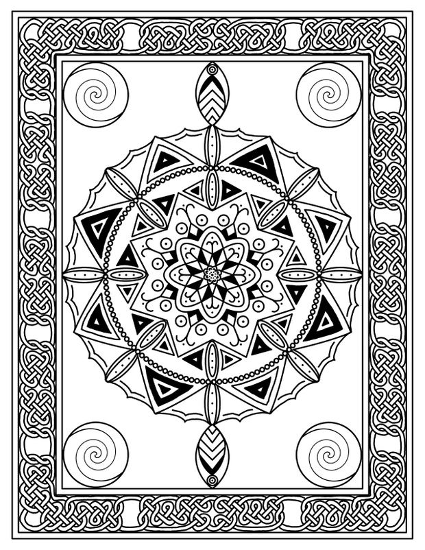 Knotdala Coloring Page 7 Coloring Pages Drawing Tablet