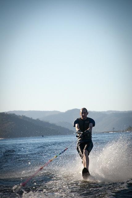 Just like this guy Water skiing at Lake Eildon in Victoria - Water skiing at lake eildon 2/1/2011 by Bianca van Meeuwen, via Flickr