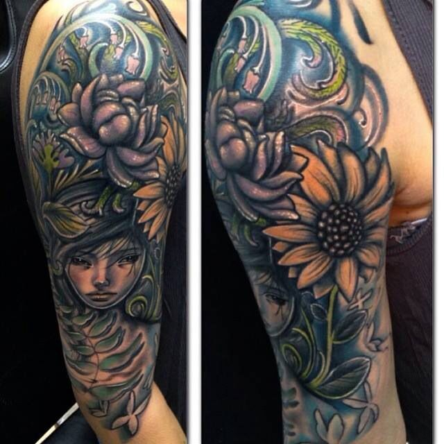 Flower Nature Tattoo: 27 Best New Ink.. Images On Pinterest