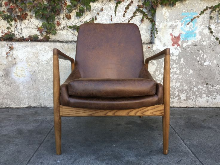Mid Century Style Brown Lounge Chairs