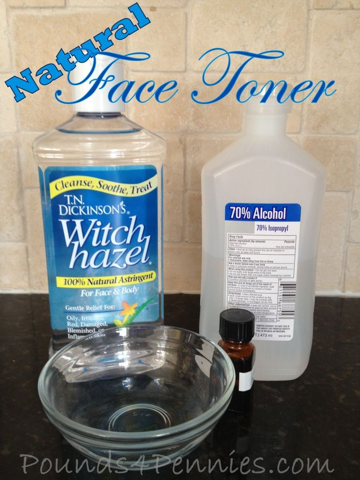 Natural Face Toner. Super easy to make. Cleans and tones face for clean fresh skin. Great for teens or tweens. Natural Skin Care. Homemade skin care.