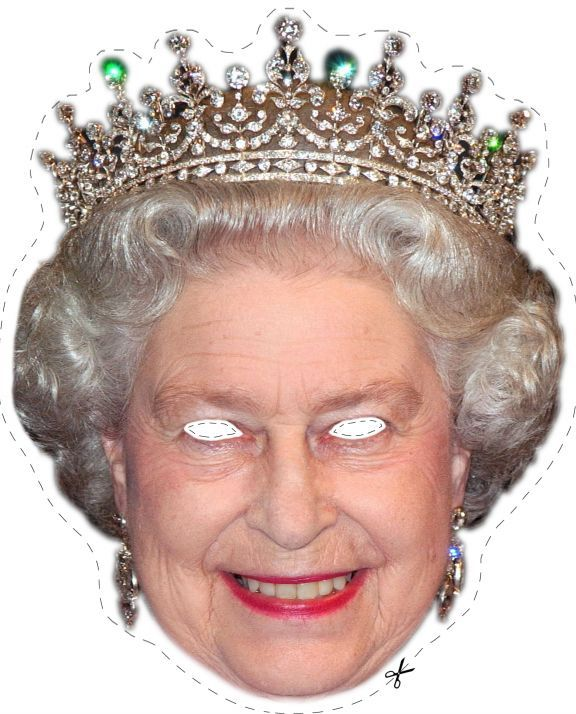 Free Queen Elizabeth Printable Mask for Halloween #free #printables