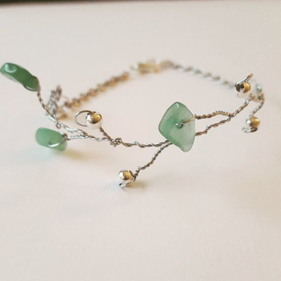 Check out this item in my Etsy shop https://www.etsy.com/ca/listing/516733989/vine-twig-bracelet-amazonite-bracelet
