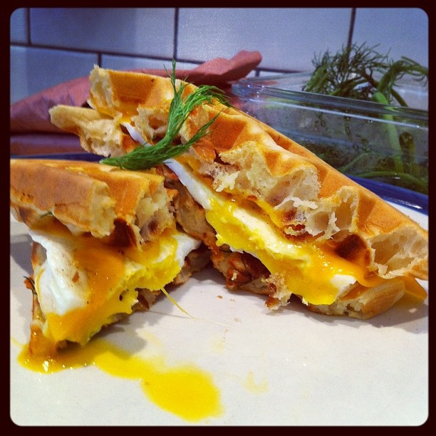 Waffle sandwiches at Cannon Coffee Co. on Ottawa Street.