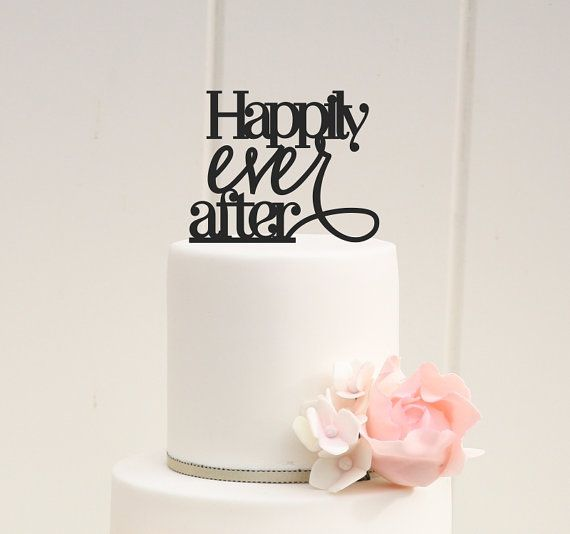 Custom Wedding Cake Topper Happily Ever After Cake Topper
