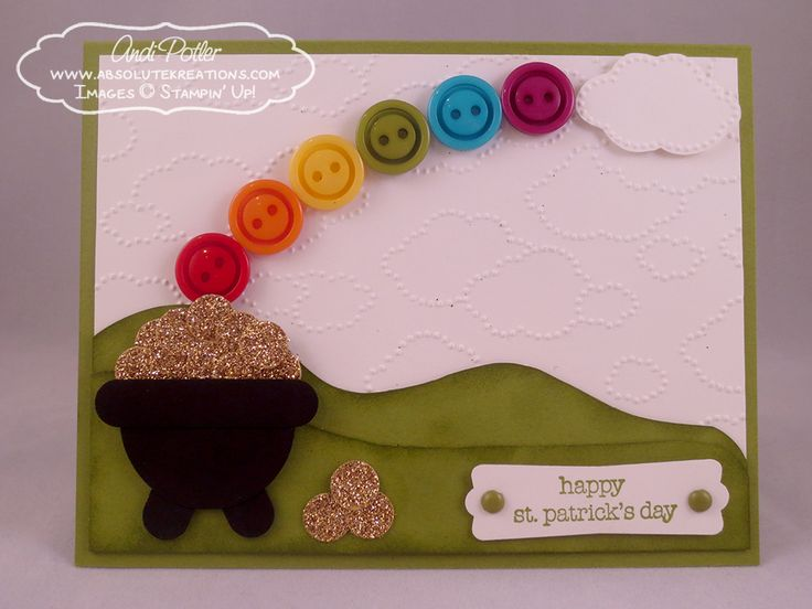 stampin up st patrick's day | Punch Art: Pot of Gold – Happy St. Patrick's Day