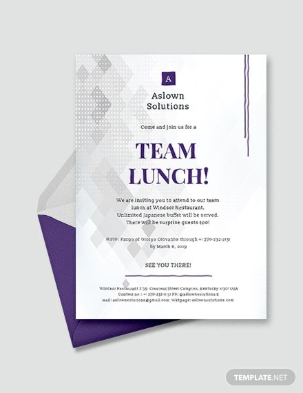 team lunch invitation