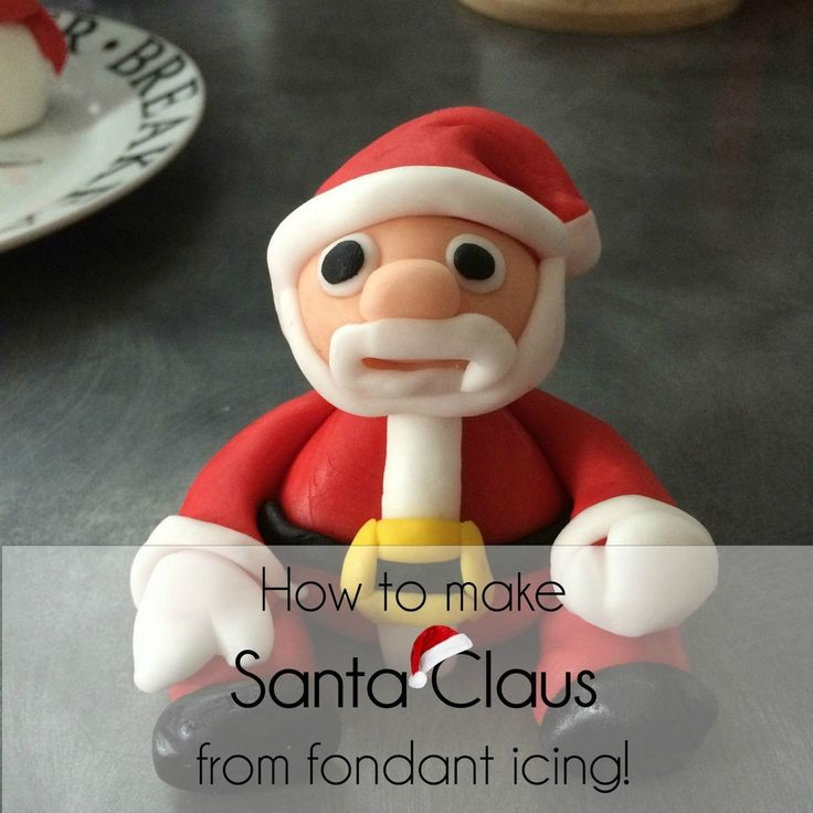 Easy tutorial on how to make a Santa Claus from fondant icing- he would make the perfect cake topper! <3