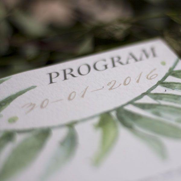Nifty Studio Eucalyptus Wedding Program