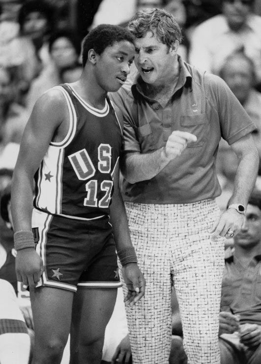 What a glorious combination. Bob Knight has great pants in this picture.
