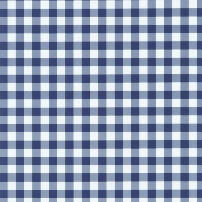 Navy Blue White Gingham Check pattern Blue and white