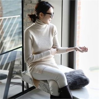 Buy mayblue Turtle-Neck Wool Blend Knit Dress at YesStyle.com! Quality products at remarkable prices. FREE WORLDWIDE SHIPPING on orders over US$ 35.