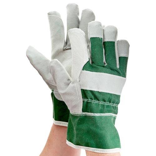 Mens Leather Garden Gloves   Poundland