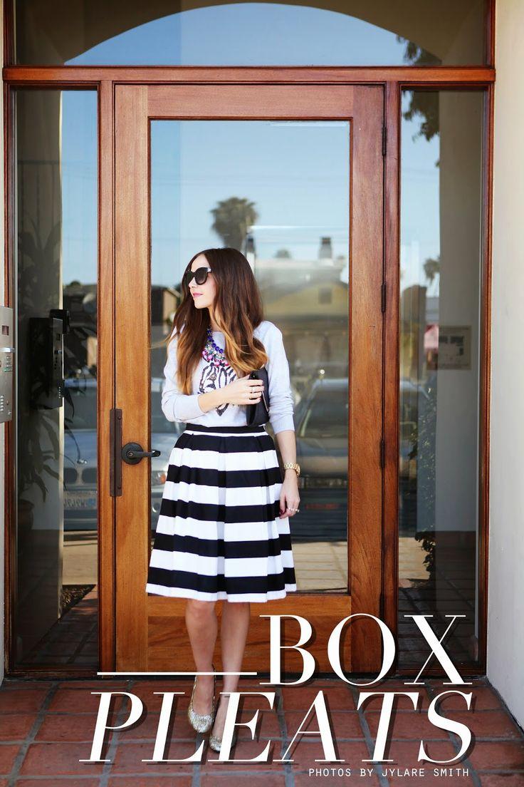 Art // Style + couture de Merrick pour la fille de tous les jours: BOX JUPE PLISSÉE TUTORIAL