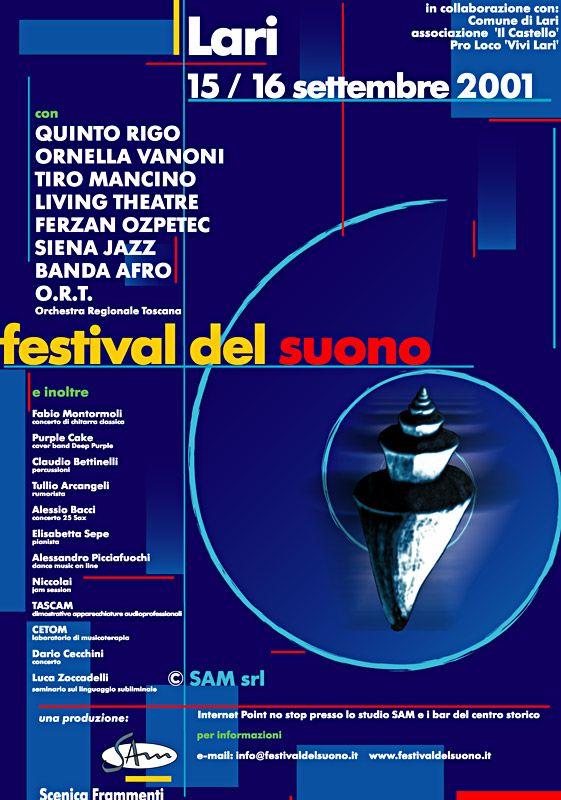 Il manifesto del Festival del Suono 2001 (Marco Mencacci e Michele Fiaschi)