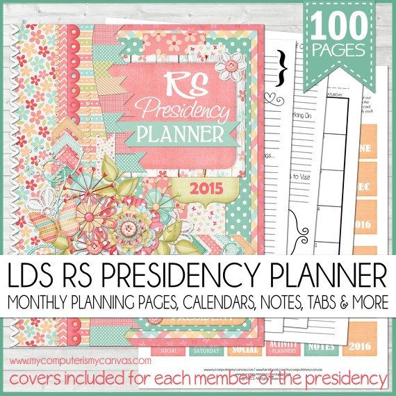 ... Relief Society Meetings, 2015 Relief Society Planner, Relief Society