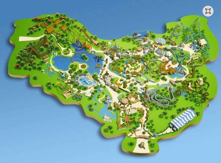 Parc Asterix Paris. Amusement park in Paris.