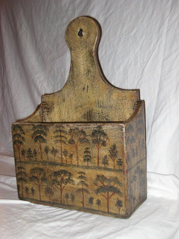 Antique candle box. Love the hand painted design!
