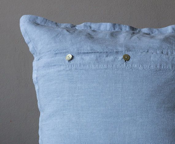 pure washed linen pillowcase  / 50x50cm / dusty by vydravolkmer