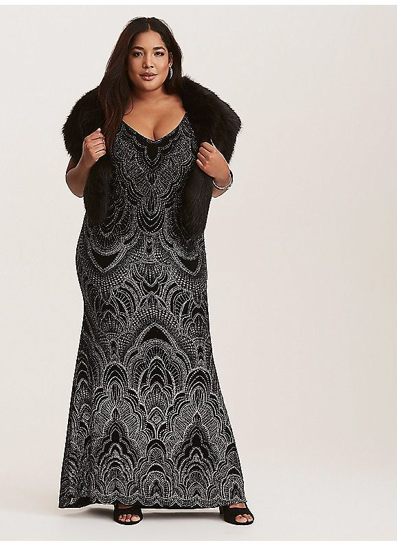 050aae2442671 TORRID : Black Glitter Design Maxi Dress | My style | Dresses ...