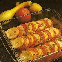 Crookneck Squash And Tomato Slices Recipe