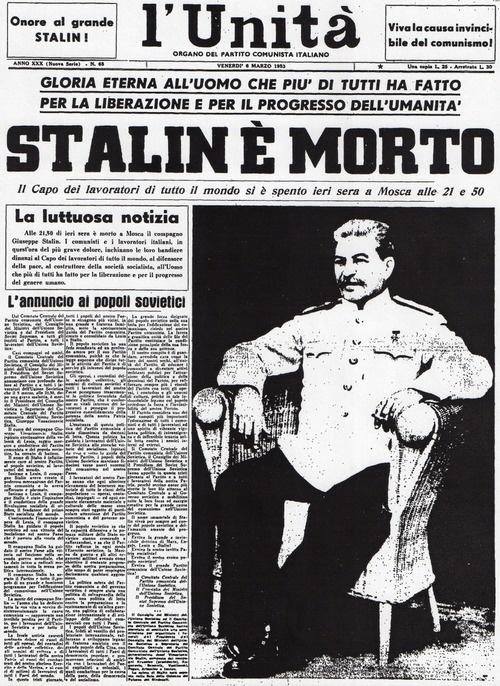 Stalin è morto. L'Unità