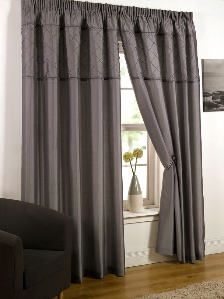 17 best images about ready made curtains ideas on. Black Bedroom Furniture Sets. Home Design Ideas