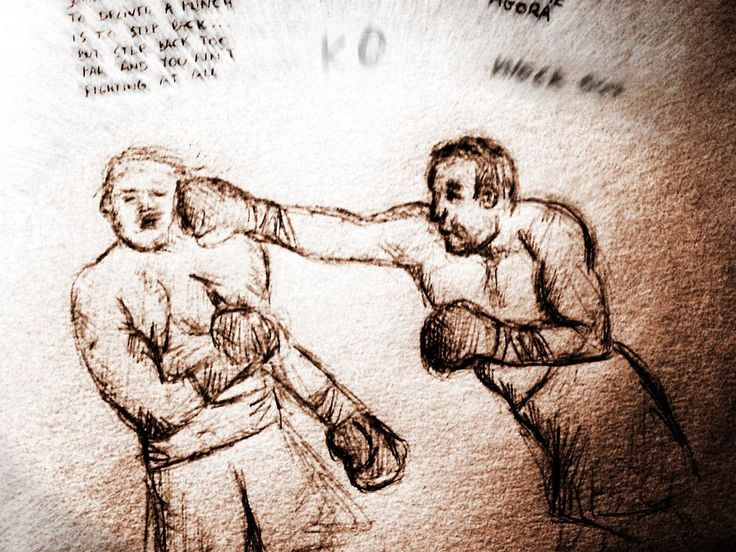Sometimes the best way to deliver a #punch is to stepBack.But step back too far and you ain't fighting at all.#sketch
