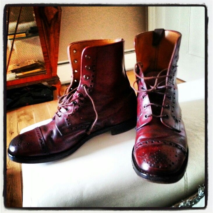 1950's Oxblood Brogues Boots.   Mens fashion I love but ...