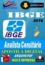 Apostila Digital Concurso IBGE Analista Censitario 2016