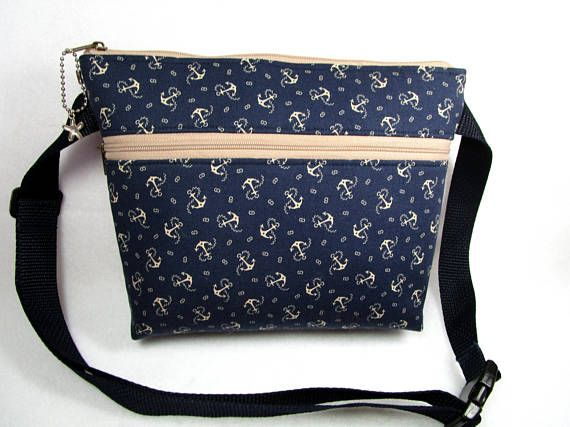 5af46ebb2a2a Nautical Anchors Navy Blue Handmade Fanny Pack/Belly | Darlings ...