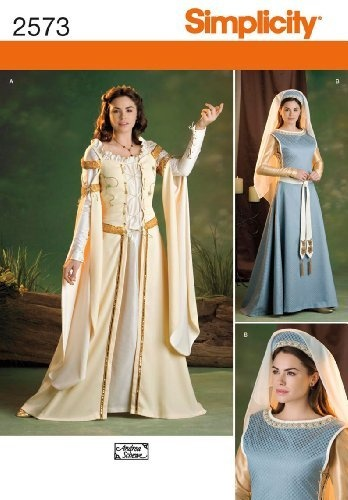 Simplicity Sewing Pattern 2573 Misses Costumes, K5 (8-10-12-14-16) by Simplicity, http://www.amazon.com/dp/B004N3AY06/ref=cm_sw_r_pi_dp_0rzXqb1V5QT5Z: Medieval Costume, Costumes, Costume Ideas, Dresses, Simplicity Pattern, Simplicity 2573, Sewing Patterns
