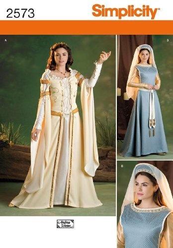 Simplicity Sewing Pattern 2573 Misses Costumes, K5 (8-10-12-14-16) by Simplicity, http://www.amazon.com/dp/B004N3AY06/ref=cm_sw_r_pi_dp_0rzXqb1V5QT5ZDresses Pattern, Costumes Pattern, Medieval Costumes, Simplicity Sewing Pattern, Simplicity Pattern, Simplicity 2573, Renaissance Dresses, Costumes Ideas, Sewing Patterns