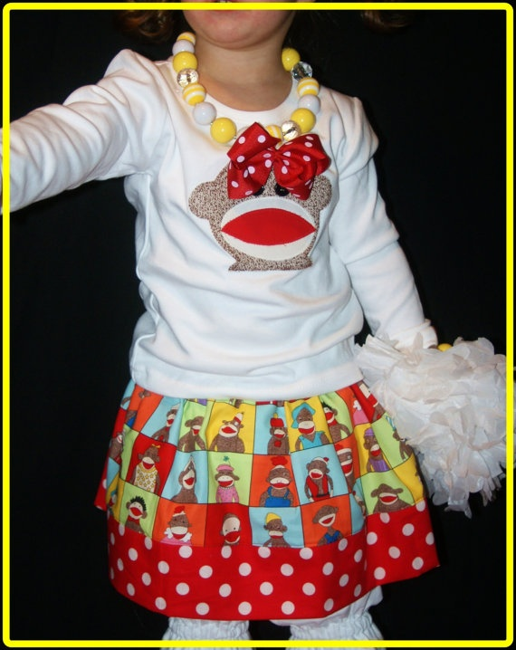 Sock Monkey Birthday Outfit