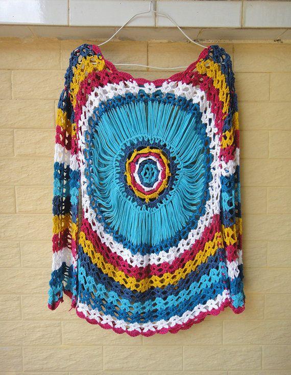 Boho Crochet Sweater Women Long Sleeve Blouse