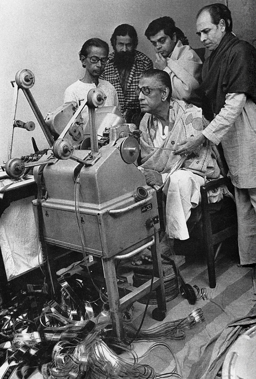 Satyajit Ray editing...