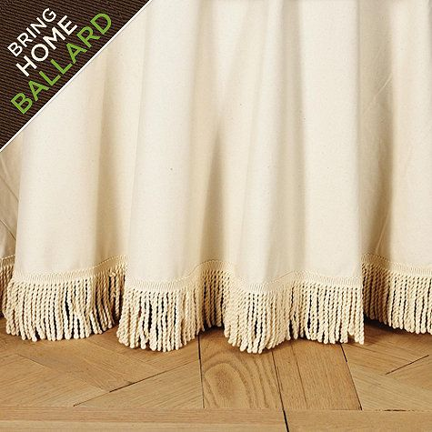 Off White Twill Fringed Tablecloth
