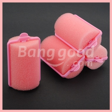 Foam rollers - they left a ridge on your hair section, but were so much more comfortable to sleep on than brush rollers!