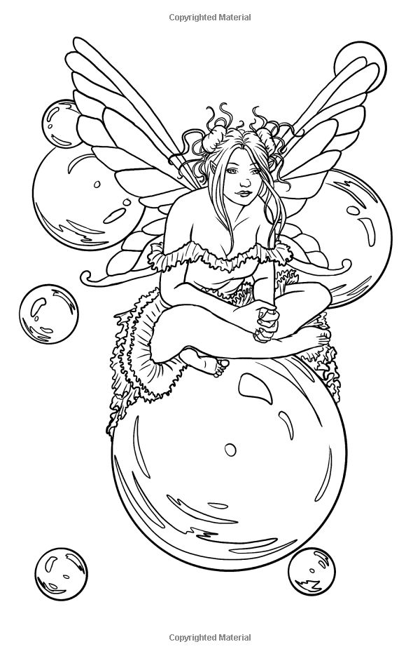 detailed printable fantasy coloring pages - photo#24